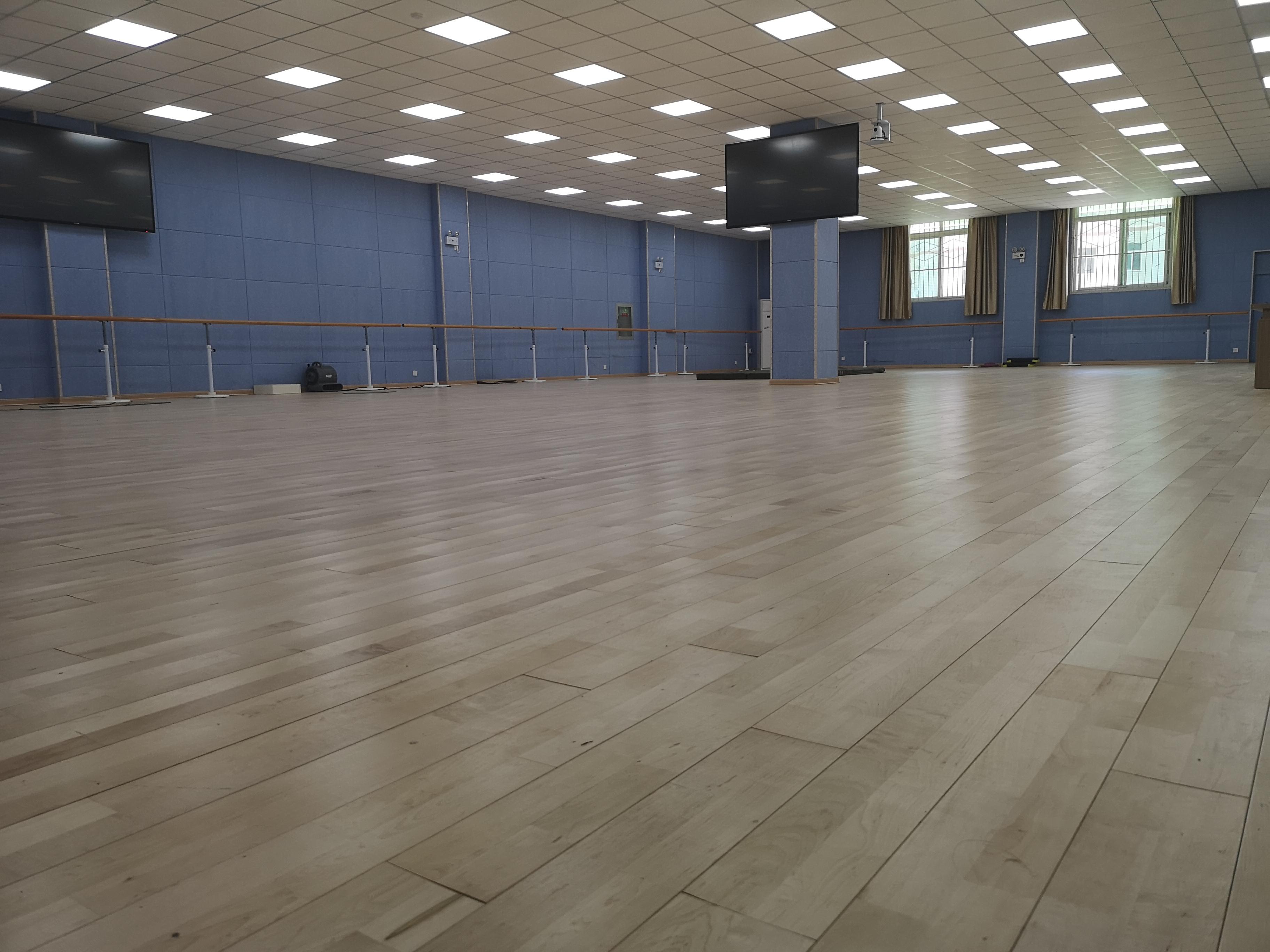 内蒙古民族艺术学院舞蹈室龙8国际授权网站整体铺设(图1)